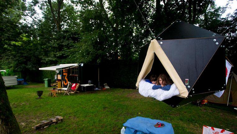 Camping Vliegenbos in 2013 tijdens het 100-jarig bestaan van het H.W. Vliegenbos Beeld anp