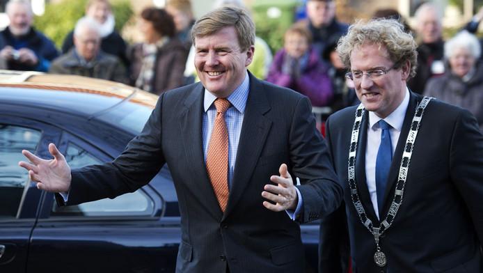 Burgemeester Rodenburg ontving in 2014 koning Willem-Alexander in Midden-Delfland.
