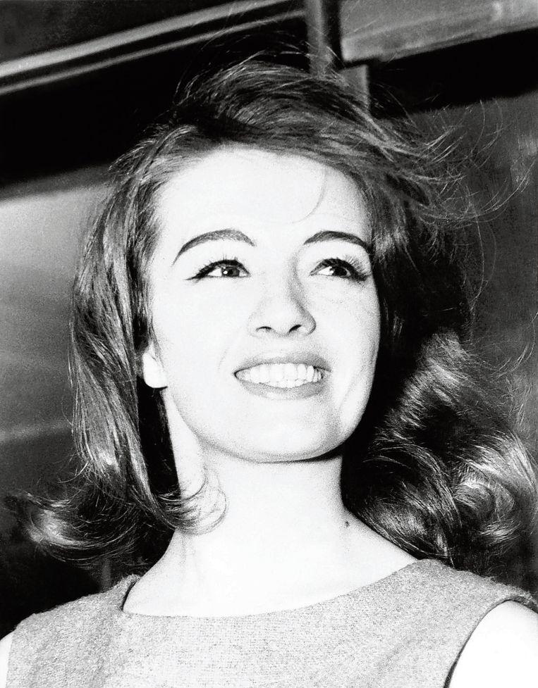 Christine Keeler op een foto uit de jaren zestig.