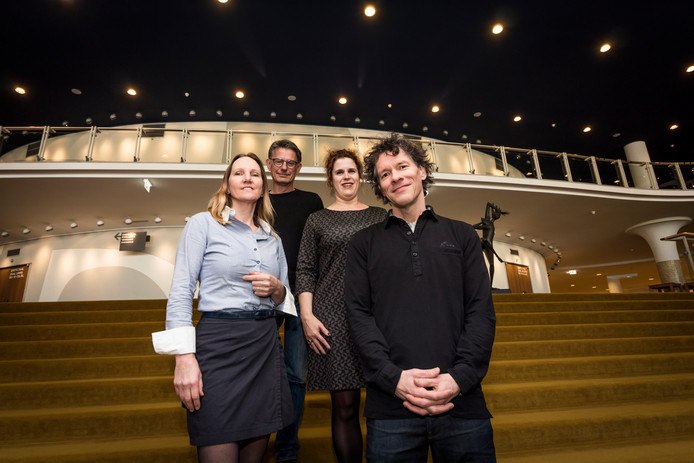 Irene Martens, Klaas Seelen, Irene Arts en Frank van der Vleuten.