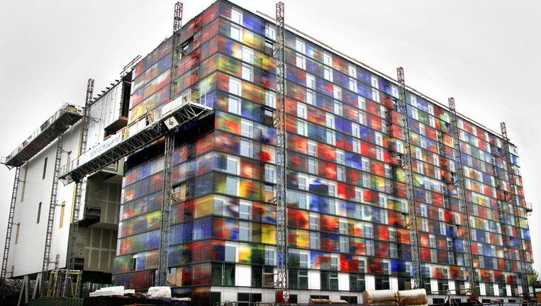 De Aanbouw van het nieuwe beeldinstituut op het Mediapark in Hilversum. Archieffoto ANP Beeld