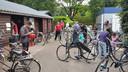 Het door vrijwilligers opgezette fietsenproject was een groot succes in azc Westelbeers.