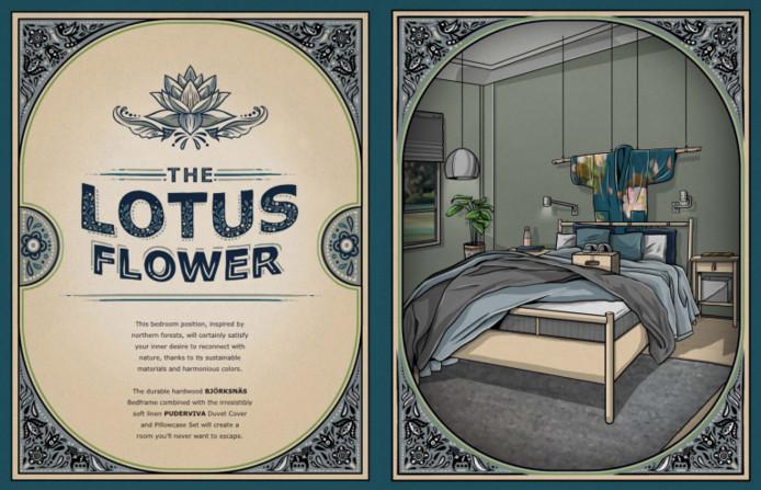 De 'Lotus Flower' in de catalogus.