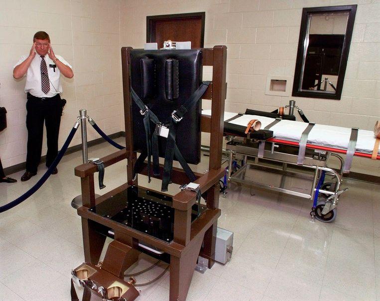 De kamer in Nashville waar de doodstraf werd uitgevoerd.