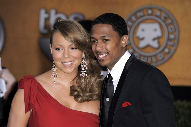 Mariah Carey en haar ex Nick Cannon in betere tijden.