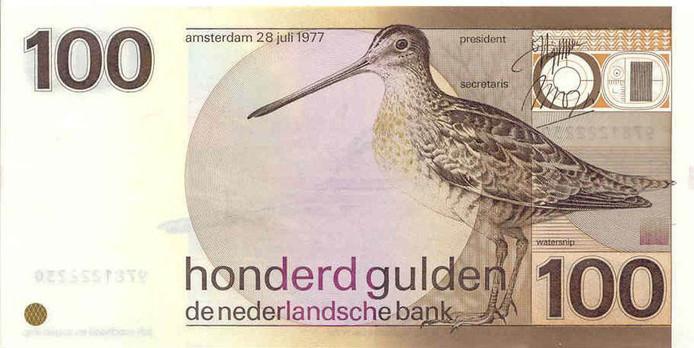 De zogenaamde snip, het voormalige 100- gulden biljet.