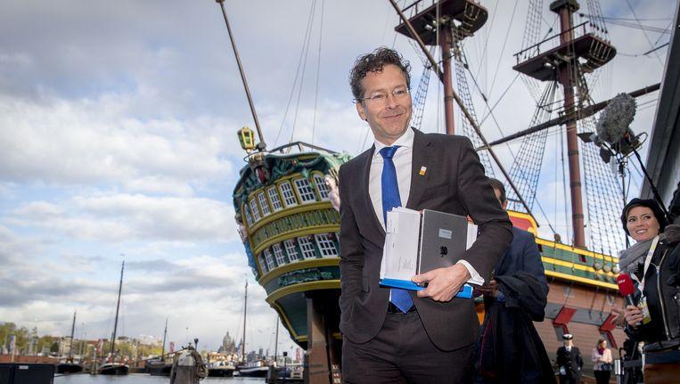 Minister Dijsselbloem in Amsterdam voor de Ecofin-vergadering Beeld anp