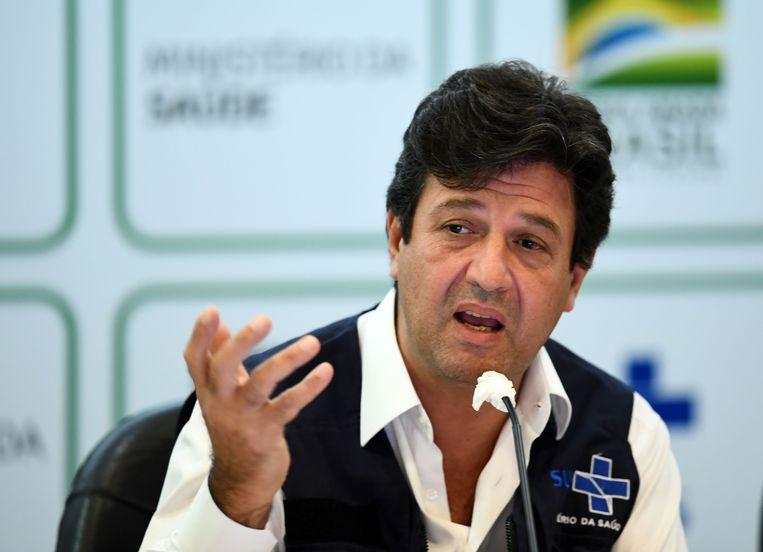De ontslagen Braziliaanse minister van Gezondheid Luiz Henrique Mandetta. Beeld AFP