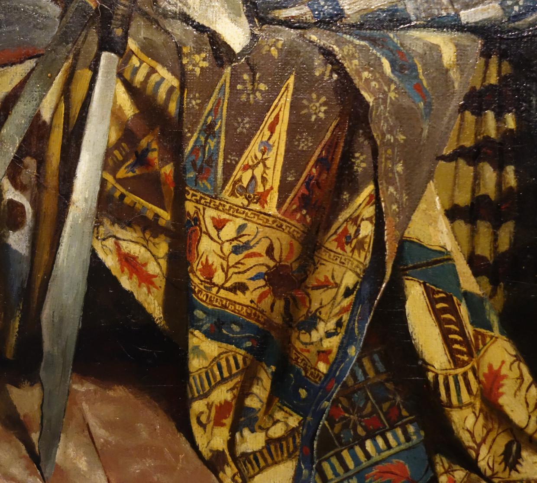 Detail uit 'Zelfportret in atelier met Javaanse gewaden' (1880). Beeld Kunstmuseum Den Haag