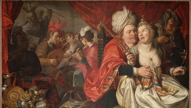 Een van de geroofde schilderijen, Vrouw wereld, geschilderd in 1622, door Jacob Waben. Beeld Wikimedia Commons