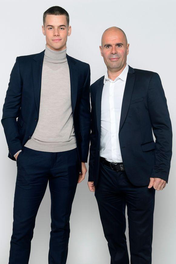 Ex-wielrenner Peter Van Petegem en zoon Gauthier