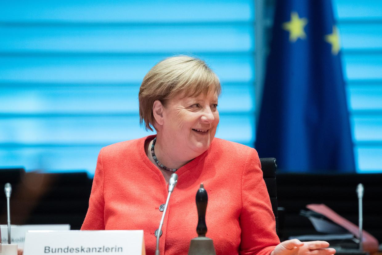 De Duits bondskanselier Angela Merkel.