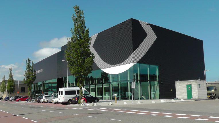 Het nieuwe Collectiecentrum van EYE Filmmuseum in Amsterdam-Noord. Beeld EYE Filmmuseum