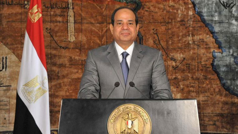 Al-Sisi Beeld AFP PHOTO/ EGYPTIAN PRESIDENCY