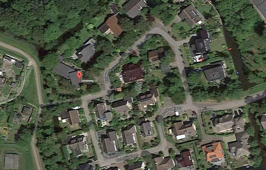 De villawijk in Den Helder. Het COA wilde een asielopvang op nr. 15.