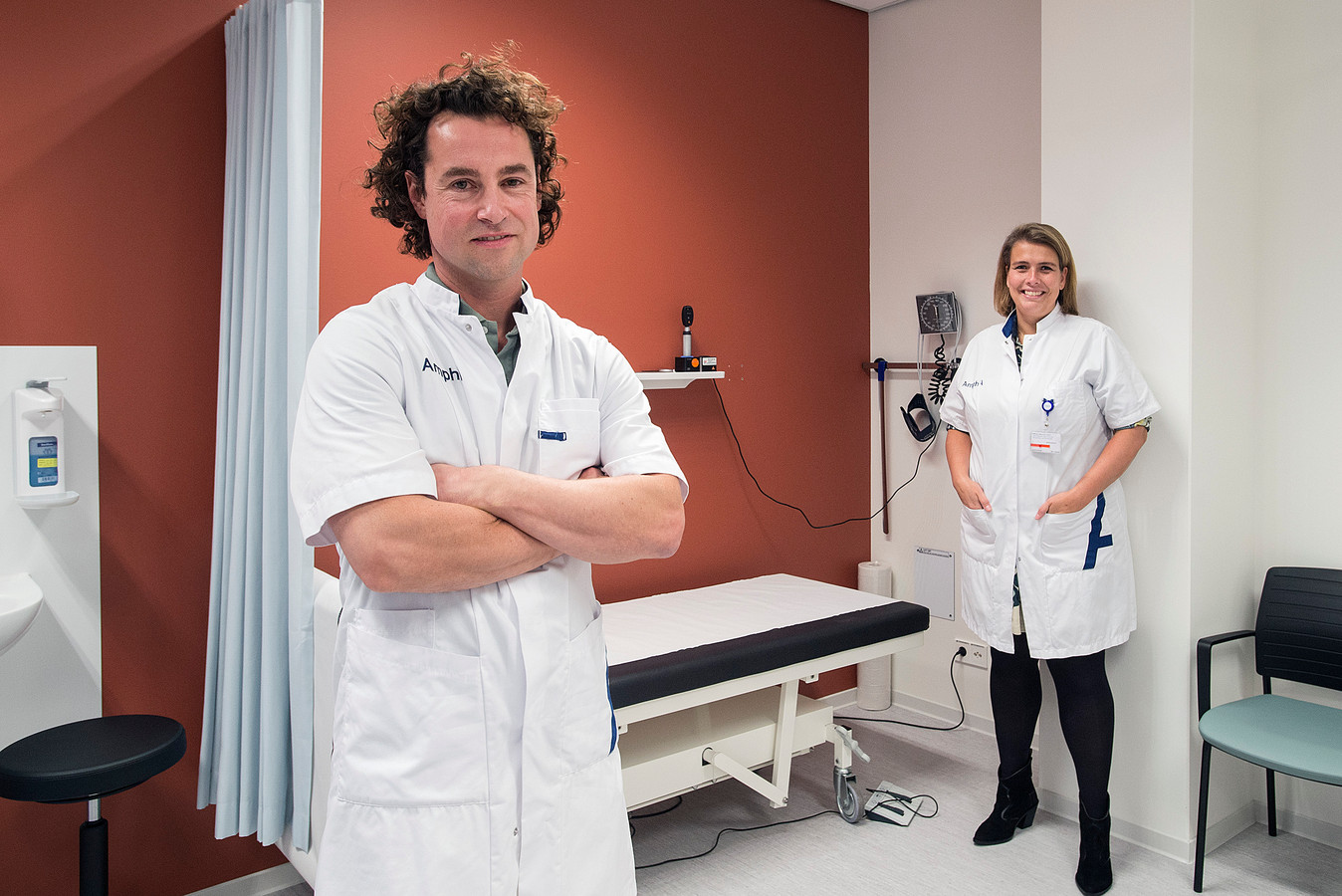 De Amphia-specialisten Thijs de Wit en Anouk van Norden   ...dat in de eerste coronagolf veel patiënten niet meer zijn gekomen is voor een aantal heel schadelijk geweest...