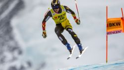 Armand Marchant finisht niet in eerste run in Wereldbeker Wengen