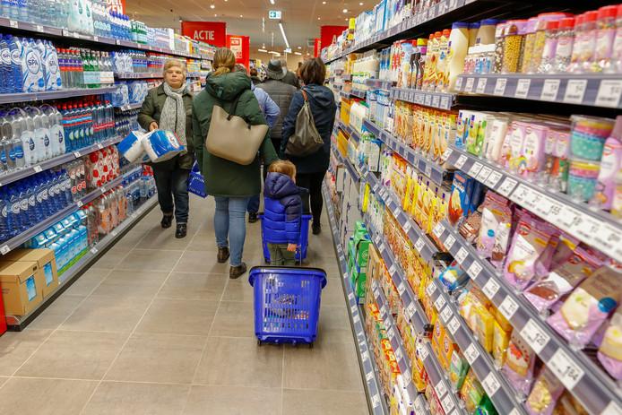 Wie de smartphone gebruikt tijdens een bezoek aan de supermarkt geeft gemiddeld 41 procent meer uit.