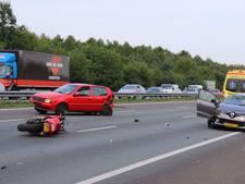 A12 weer open na ongeval met auto's en motor bij knooppunt Grijsoord