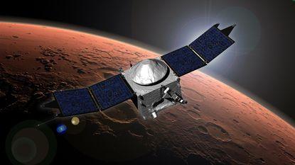 Mars heeft poollicht en mysterieuze wolk