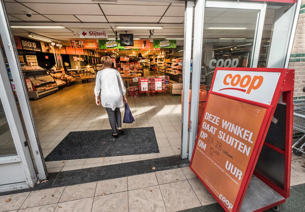 De Coop in het winkelcentrum van Gennep gaat dicht.