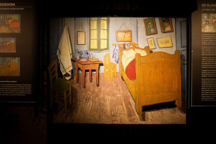 De Vincent Van Gogh-expo in de Waagnatie: De Slaapkamer in 3D.
