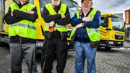 Edgard (81) gaat nog wekelijks de baan op met signalisatiewagen