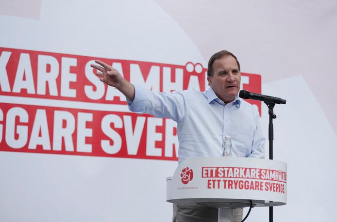 Stefan Löfven, de premier van Zweden en leider van de sociaaldemocratische partij.