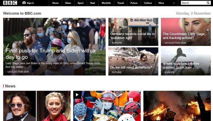 Op de website van de BBC is het ongeluk groot nieuws en staat het bericht daarover bijna bovenaan.