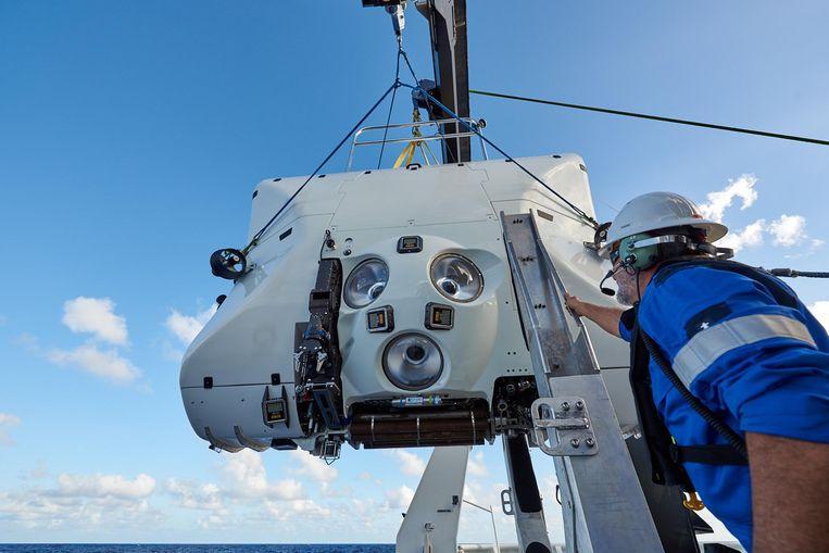Limiting Factor, de duikboot waarmee Vescovo naar de zeebodem afdaalde.