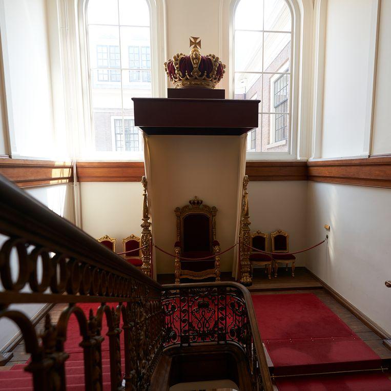 Verborgen plekjes Binnenhof: de Troon van Willem III.  Beeld Phil Nijhuis