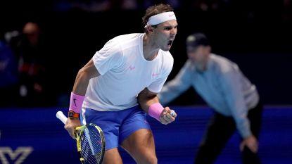 Nadal doet wat hij moet doen op ATP Finals en kijkt nu met een bang hartje naar match Zverev