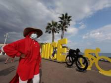Startplaats Nice wordt 5 dagen voor Tourstart oranje gebied