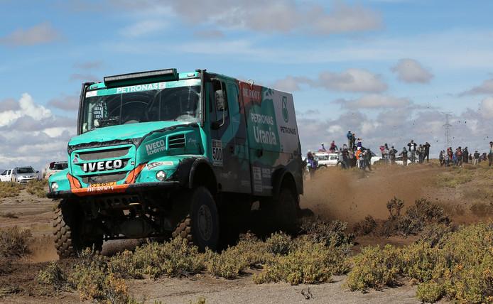 Gerard de Rooy tijdens etappe 8 van de Dakar Rally 2017
