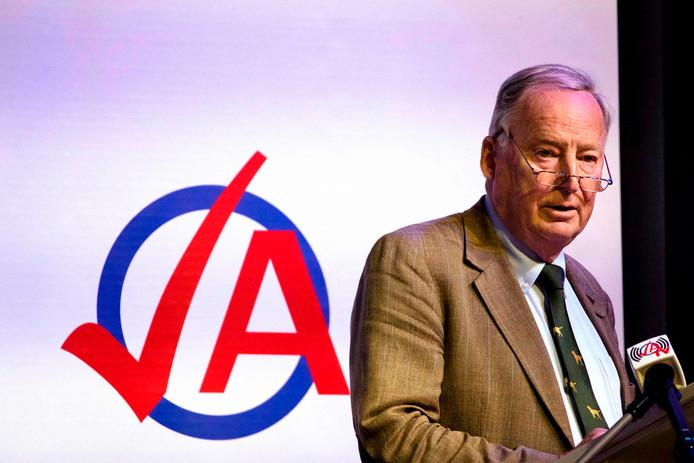 Woordvoerder Alexander Gauland van de extreem-rechtse partij Alternative für Deutschland (AfD).