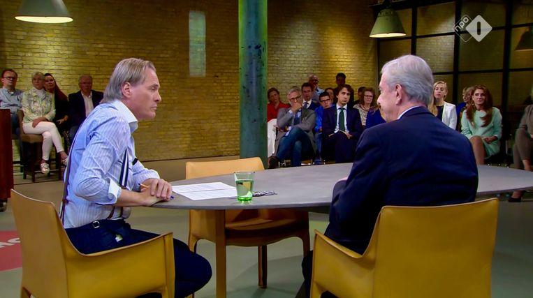 Koos van Dam (rechts) bij Buitenhof met Jort Kelder Beeld Renate Van Der Bas