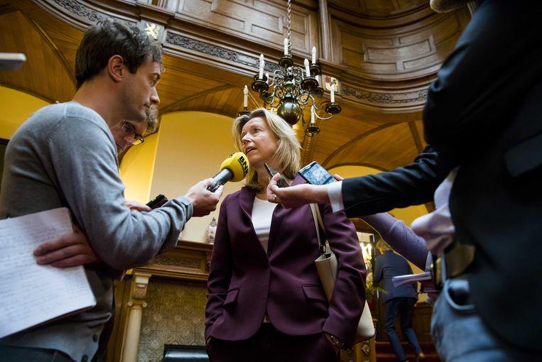 Minister van binnenlandse zaken, Kajsa Ollongren, baarde in november vorig jaar veel opzien met de brief waarin zij waarschuwde dat ook Nederland te maken heeft met nepnieuws.  Beeld ANP