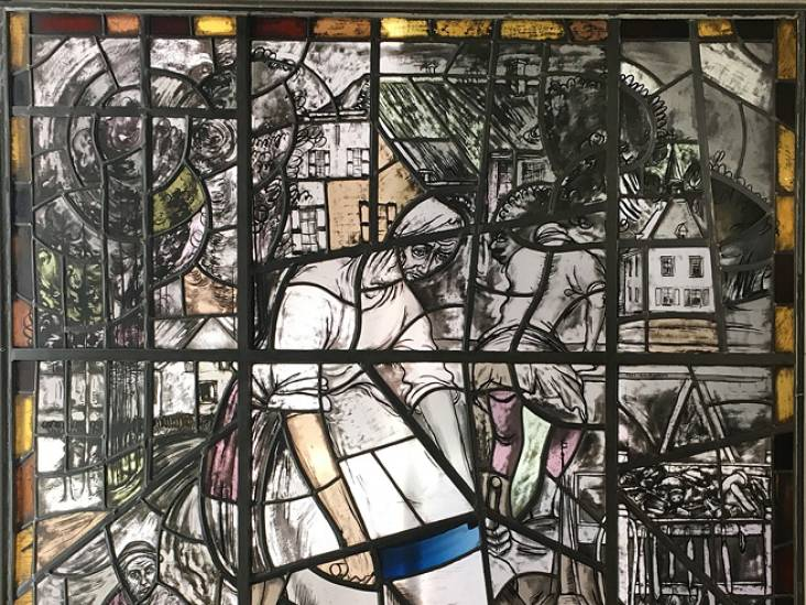 KVL zet glas-in-loodraam van Kees Bastiaans in het licht: pareltje voor Oisterwijk