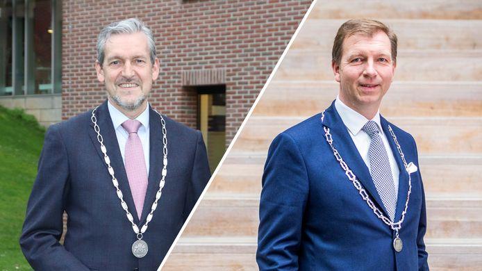 Burgemeesters Hans van der Pas van Rhenen en Gert-Jan Kats van Veenendaal.