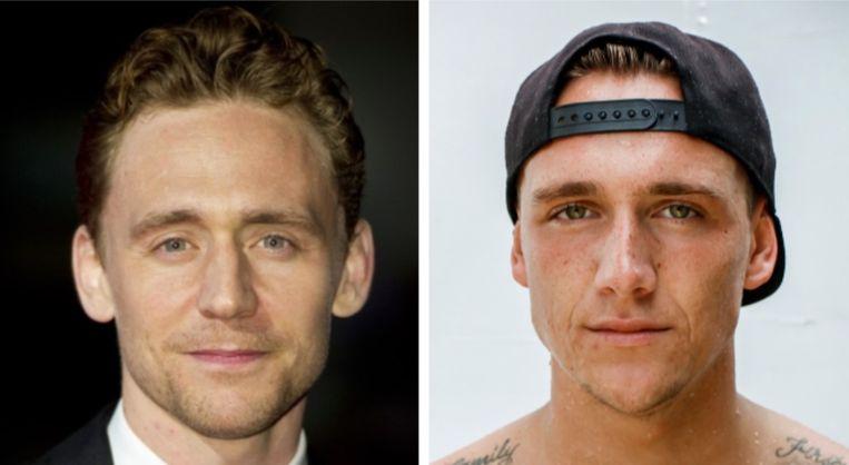 Verleider Jaimy (rechts) lijkt wel heel hard op acteur Tom Hiddleston.