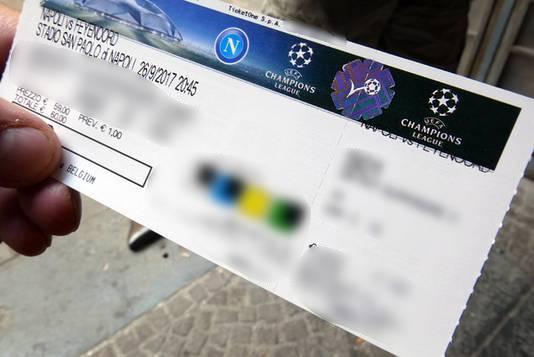 Een van de tickets van 'de Belgen'.