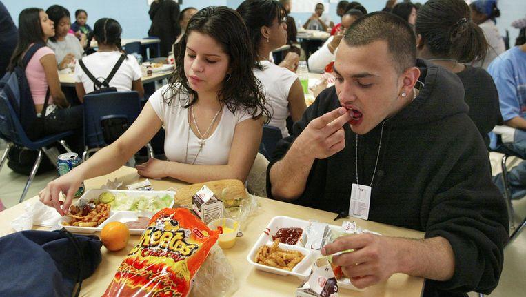 Lunch op een school in Chicago Beeld ANP
