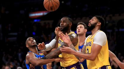 Anthony Davis en LeBron James loodsen Lakers naar nieuwe zege, Clippers verslaan Houston