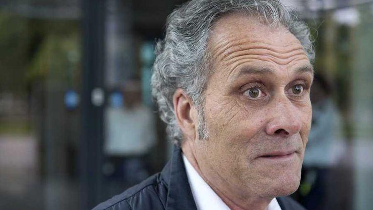 Gijsbert Ruiter verlaat de rechtbank nadat hij verschillende aangiftes heeft gedaan. Beeld anp