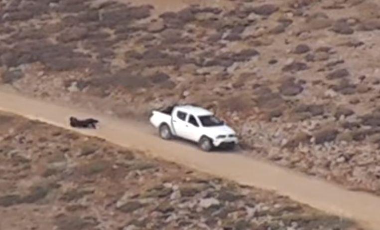 Een Syrische politie-eenheid wordt onder vuur genomen tijdens een hinderlaag in september 2012 op de Golanhoogvlakte, in het grensgebied tussen Israël en Syrië. De beelden zouden in september 2012 zijn gemaakt door Oostenrijkse blauwhelmen.  EPA/FALTER HANDOUT