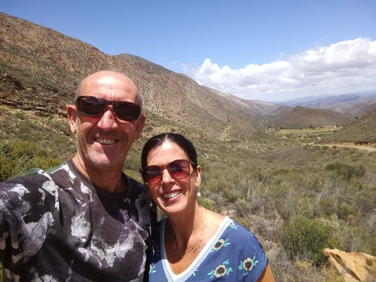 Boer Manu en zijn Hilde in Zuid-Afrika