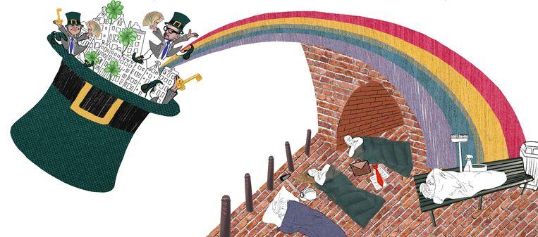 Regenbooggroep doet oproep aan vastgoedbeheerders Amsterdam Beeld Rosa Snijders
