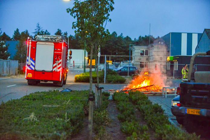 Industriebrand blijkt vreugdevuur te zijn.