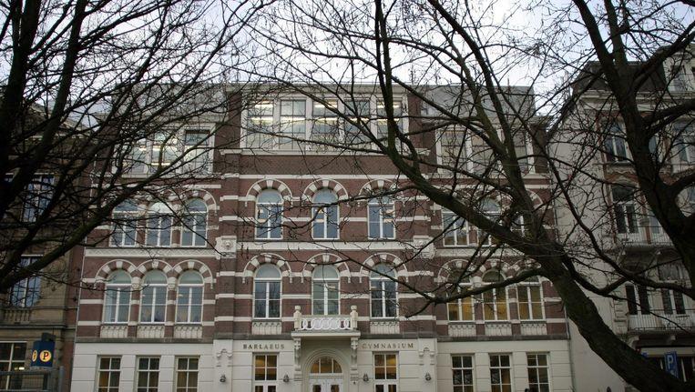 Het Barlaeus Gymnasium. De zoon van Caroline en Paul Grimmelikhuijse is uitgeloot voor de vijf categorale gymnasia in Amsterdam. Beeld Jan-Dirk van der Burg