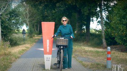 """VIDEO. Maaike Cafmeyer maakt met ludiek filmpje promotie voor geboortestad Torhout: """"Je kan hier rijden tot aan de zee"""""""